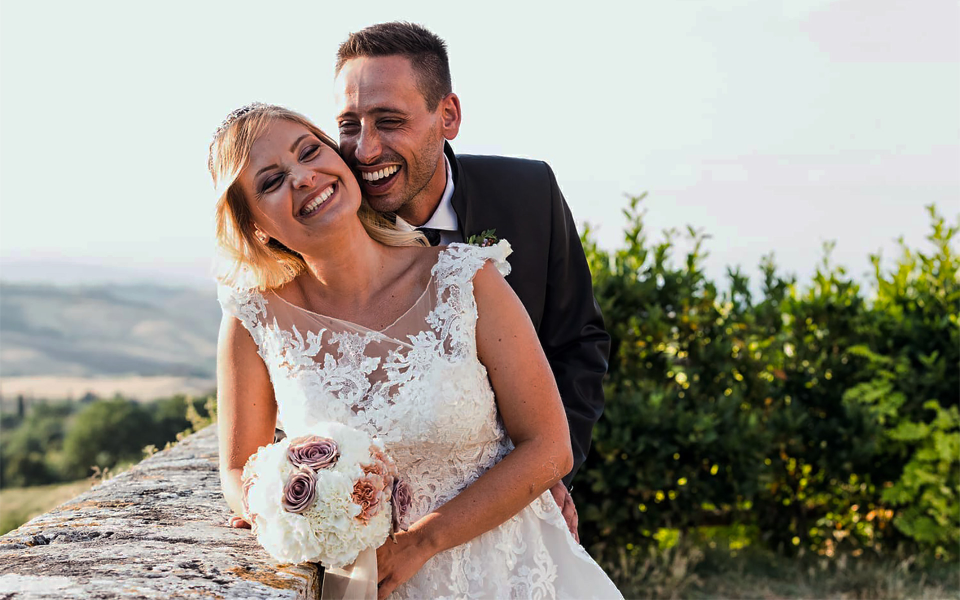 A A fairy tale wedding in Tuscany