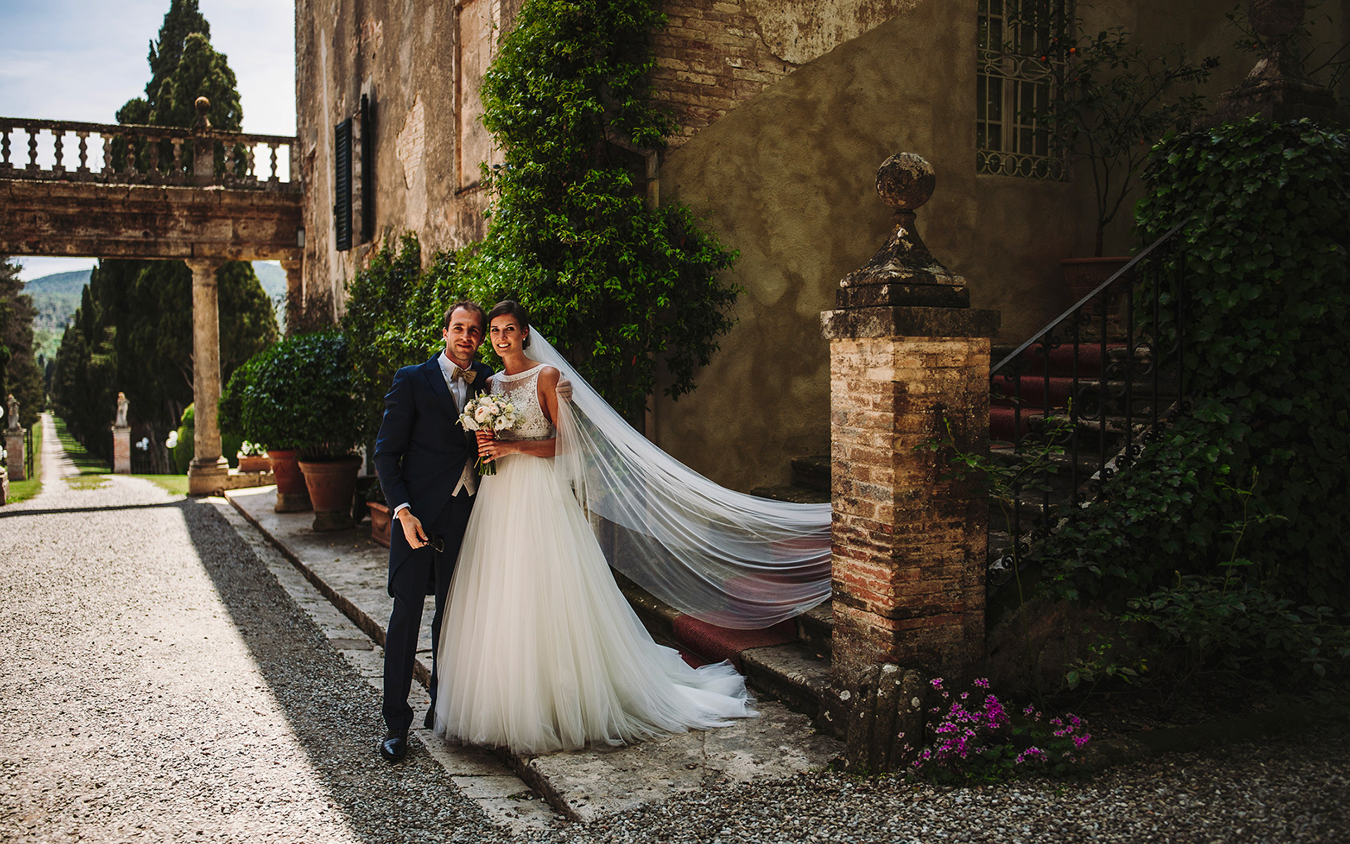 wedding in a charming historical villa