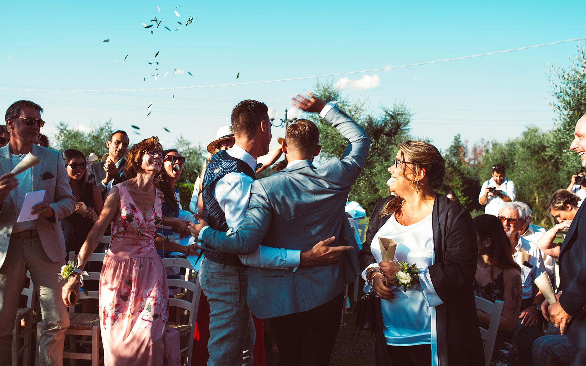 Alfresco Wedding in a countryside villa